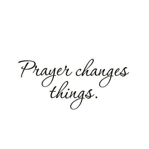 Chouron Wall Stickers Prayer Changes Things Art Words Removable Vinyl Mural Home Decor for Living Room Kid's Room Bedroom Decal (Black)