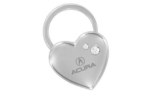 Acura Heart Key Chain Swarovski Crystals Keychain Fob ()