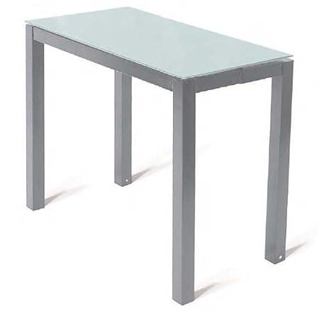 Consolle In Vetro Allungabile.Tavolo Consolle Allungabile Vetro Bianco Silver Amovibile Amazon