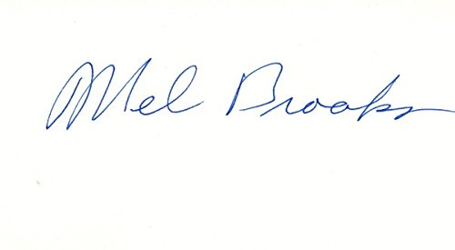 Mel Brooks Signed - Autographed 3x5 inch Index Card - Legendary Comedian Actor and Director - Guaranteed to pass PSA or JSA (3x5 Card Index Signed Autographed)