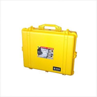 Equipment Case with Foam: 19.44'' x 24.25'' x 8.69'' Color: Black