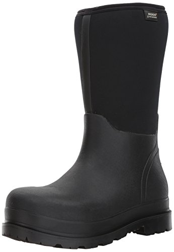 Bogs Men's Stockman Waterproof Insulated Composite Toe Work Rain Boots, Black, 8 D(M) US