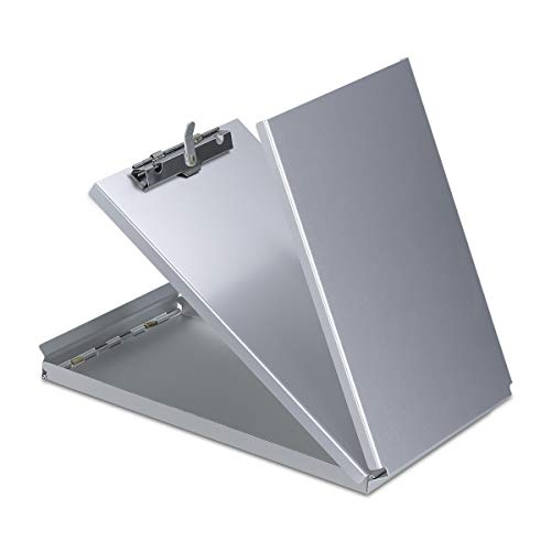 Aluminum Clipboard Metal with Storage Form Holder Aluminum Metal Binder with High Capacity Clip Posse Box Heavy Duty Made - Letter Size Clipboard for Office Business Professionals Stationery Items Cruiser Mate Forms Holder