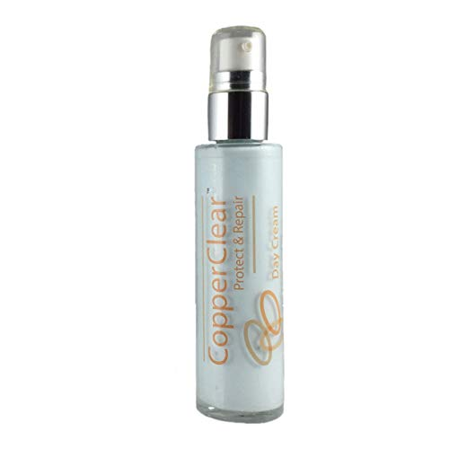 Copper Peptide all natural Day Cream: 2 oz Jar - All Natural Moisturizer + Zinc & Magnesium for Skin, Face & Eyes