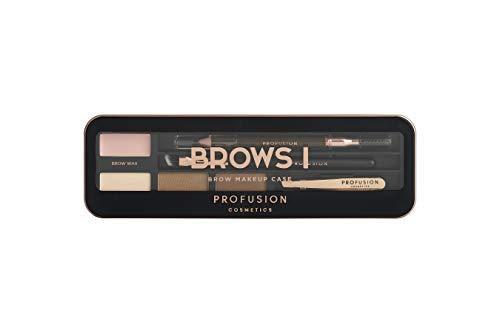 Profusion Cosmetics Eyebrow Pro Makeup Case Brows I Palette - Light Medium