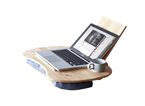 - QQMMDT LYX Pure Solid Wood Bed Computer Desk Desk Rubber Wood Portable Mobile Table Japanese-Style Learn Table and Chair Simple Modern Wood Color