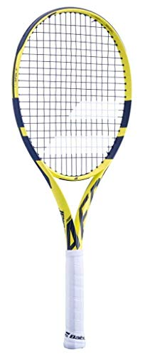 Babolat 2019 Pure Aero Lite Tennis Racquet, Quality String (4 1/4) (Best Tennis Racquet For Spin 2019)