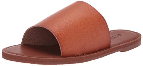 Roxy Women's Kaia Slide Sandal, Brown, 7 Medium US