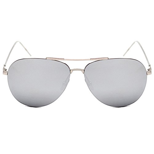 XFIERY SG800027C4 Fashionable PC Lens Metal Sunglasses,Metal Frames - Where Made Mar Sunglasses Del Are Costa