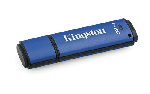Kingston Digital 32GB Data Traveler AES Encrypted Vault Privacy 256Bit 3.0 USB Flash Drive (DTVP30/32GB) ()