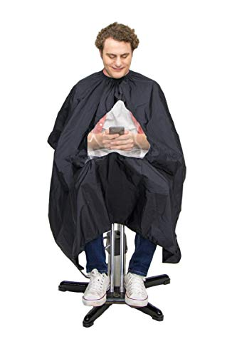 GreenMan Barber cape Unisex - transparent viewing window Salon Apron for professional/commercial hair cutting