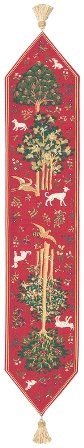 Tree of Life IIII European Table Runner by Charlotte Home Furnishings Inc.