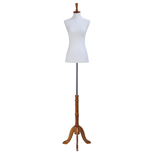 Female Mannequin Torso Body Dress Form with Tripod Stand Small 2-4 Size, 33
