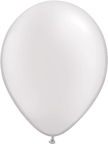 Pioneer Balloon Pearl Latex Balloons, 16'', White, Pack of 50