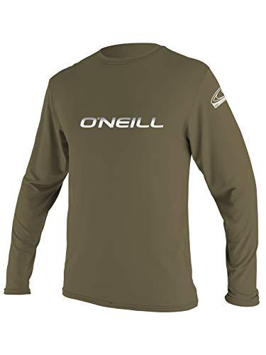 O'Neill Men's Longsleeve Basic Skins Rash Tee (Khaki, Large Tall)