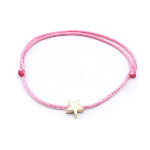 Bracelet Black Red Minimalist Adjustable Rope String Lucky Heart Star Women Lovers Bead Jewelry gold3