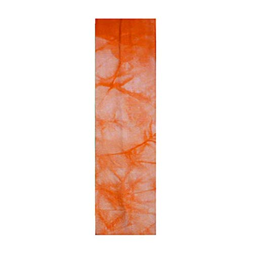 Women Boho Floral Print Cotton Knotted Turban Head Warp Hair Band Elastic Headband Sport Yoga Sweatband for Outdoors & Daily Sport Headwear (Orange) by Appoi Headband Headwrap (Image #2)