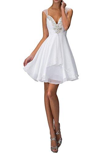 Hell Weiß La Jugendweihe Festkleider Ballkleider Kleider Abendkleider Cocktailkleider Kurzes Braut Mini Orange mia Promkleider p11Eg