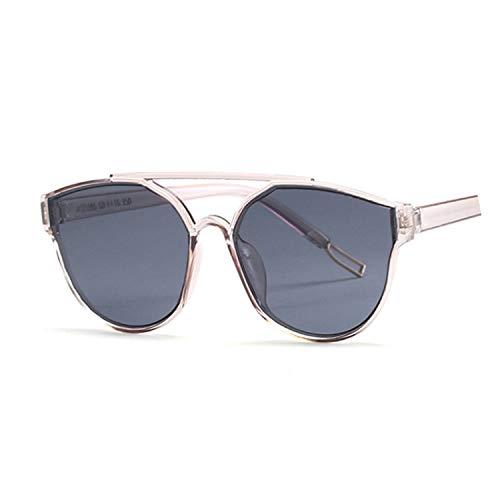 New Vintage Silver Cat Eye Sunglasses Women Fashion Mirror Cateye Sun Glasses For Female Shades UV400,Dark gray