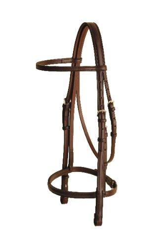 トリーバーチレザーSnaffle Bridle – ハバナ – Horse   B005AYIX78
