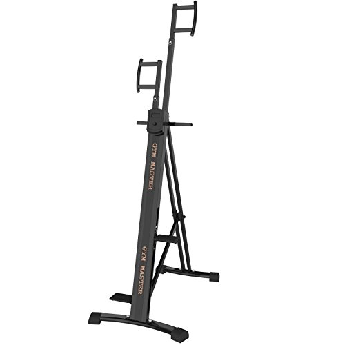 GYM MASTER Heavy Duty Vertical Climber Machine With Strong Metal Pedals & Parts - With Monitor