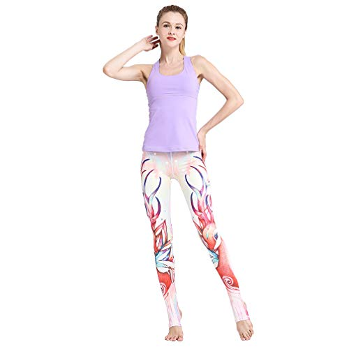 - TERODACO Women's Stirrup Yoga Pants - Performance Spandex Compression Legging Pink Deer