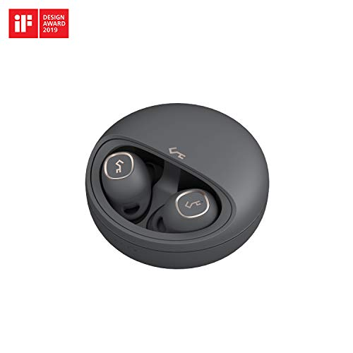 AUKEY True Wireless Earbuds, 7h Playtime per Charge + Extra 17h with Case, Superior Sound, Touch Control, USB-C & Qi Wireless Charging, IPX5 Water-Resistance, Bluetooth 5, Key Series T10