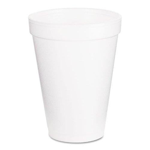 Dart 12J16 Foam Drink Cups, 12oz, White, 1000/Carton ()