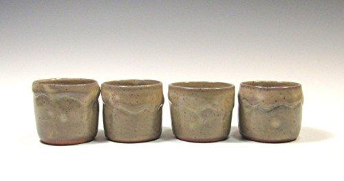 Whiskey Stoneware (Set of 4 Handmade Ceramic Whiskey Cups)
