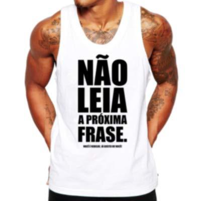 Camiseta Regata Criativa Urbana Frases Engraçadas Não Leia Branco P