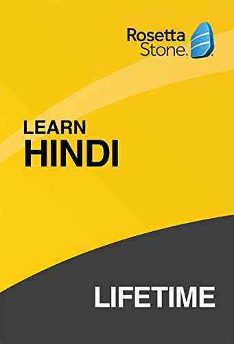 Software : Rosetta Stone: Learn Hindi with Lifetime Access on iOS, Android, PC, and Mac [Activation Code by Mail]
