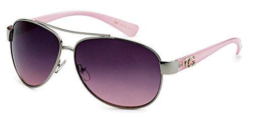 D618 Dg or CG Eyewear Metal Aviator Womens Fashion Sunglasses (CG Pink) from Unknown