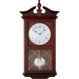 Living Constant Dark Oak Regulator Pendulum Wall Clock Amazonco