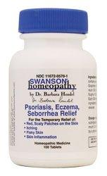 Le psoriasis, l'eczéma séborrhée de Secours, 100 Tabs par homéopathie Swanson