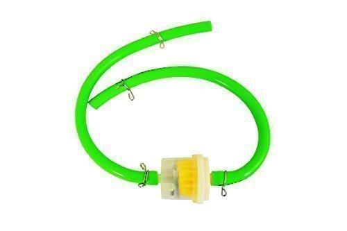 Grü n Silikon 4mm Innen Durchmesser Kraftstoffschlauch mit Benzin Filter und 4 Klemmen fü r Motocross Enduro Alchemy Parts Ltd