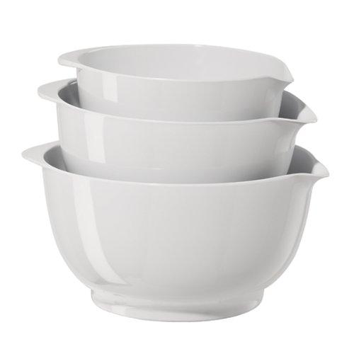 Salad Top 1 Door (Oggi 3-Piece Mixing Bowl Set, White)