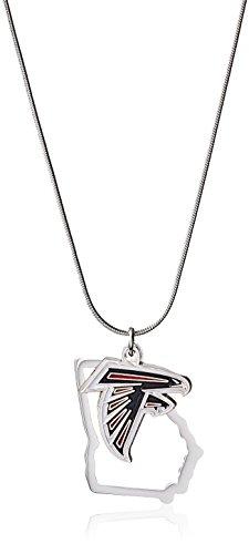 Atlanta Falcons Metal (NFL Atlanta Falcons Womens State Charm Necklace, Metal, 18
