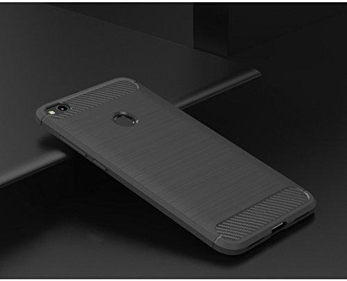 Funda Huawei Honor 8 Lite,Funda Fibra de carbono Alta Calidad Anti-Rasguño y Resistente Huellas Dactilares Totalmente Protectora Caso de Cuero Cover Case Adecuado para el Huawei Honor 8 Lite B