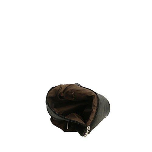Aren in bandoulière femme 24x24x2 Noir Italy Sac cuir Cm en à véritable Made TfrT4wcWq