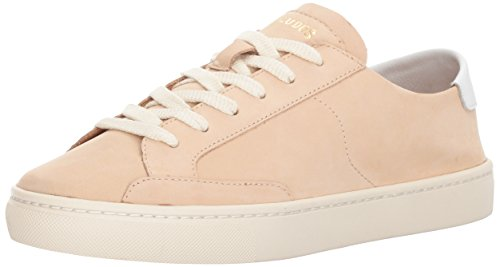 Soludos Women's Ibiza Classic Lace up Sneaker, Nude, 9.5 B US