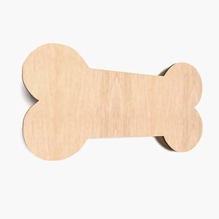 5x wooden dog bone shape large plain tags blank hanging decoration