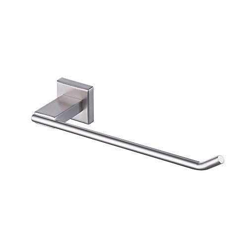 Holder Mount Flush Door Wall (KES A2481-2 Bathroom Lavatory Towel Holder Towel Ring SUS304 Stainless Steel Wall Mount, Brushed)