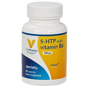 The Vitamin Shoppe 5HTP with B6 50 MG (5Hydroxytryptophan) Provides Mood Sleep Support, Once Daily (60 Capsules)