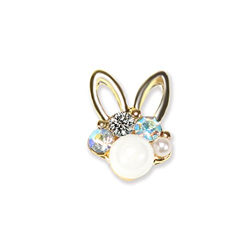 Acamifashion Lovely Bunny Nail Art Tip 3D Women Fingernail Manicure DIY Glitter Decor Gift - -