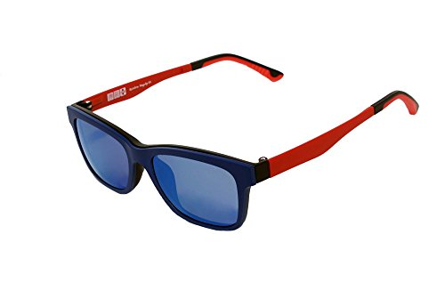 Clip Sol Montura Polarizado de de Clip Revo Sol MagClip® RMCBL de Gafas RMCRED Magnético RMCG Polarizados Rainbow Gafas con Blue Gris SAtwrAq