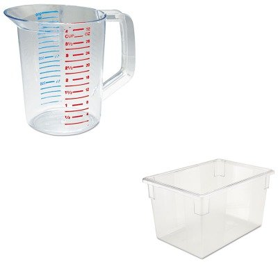 KITRCP3216CLERCP3301CLE - Value Kit - Rubbermaid-Clear Food Boxes; 21 1/2 Gallon 18 X 26 Food Box (RCP3301CLE) and Rubbermaid-Clear Bouncer Measuring Cups 1 Quart (RCP3216CLE)