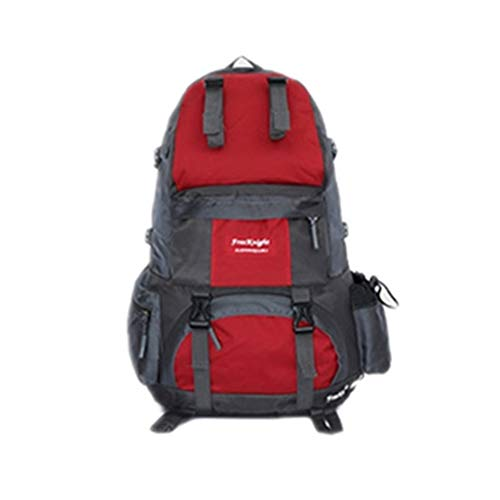 50l Outing Mountaineering Travel Camping Sports Waterproof Trip Grossartig Outdoor Riding Couple Large Backpack Red Bag Capacity XTqgwx