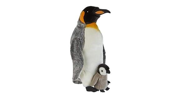 PENGUIN TOY SOFT CUDDLY KING PENGUIN RAVENSDEN TOY QUALITY GIFT FAST FREE UK P+P