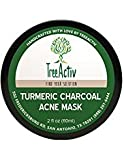 Acne Face Mask Diy TreeActiv Turmeric Charcoal Acne Mask  Natural Treatment for Facial Blackheads, Severe and Cystic Acne  Clear Skin and Face  Exfoliating  2 oz