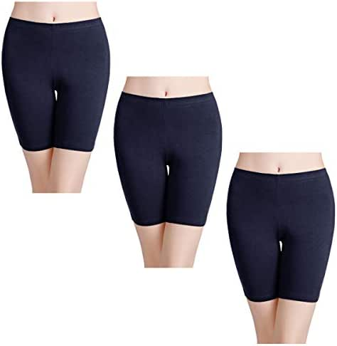 wirarpa Women's Anti Chafing Cotton Underwear Boy Shorts Bike Long Leg Multipack